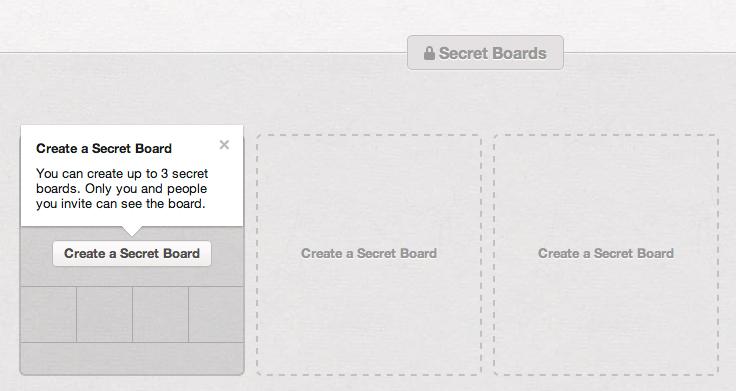 Secret Pinterest Board