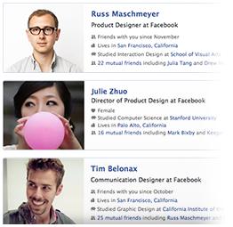 Facebook-sociogram personen zoeken