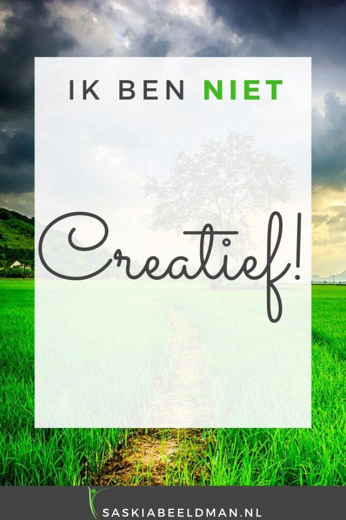 Ik ben niet creatief!