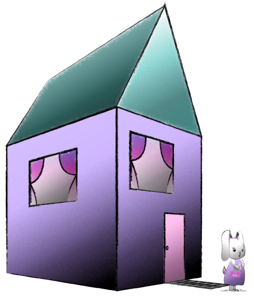 Bunny Sparkle at her House